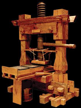 Original Gutenberg Printing Press Revolution of P...